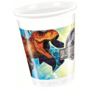 Jurassic World Plastic cup 8 pieces 200 ml
