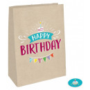Happy Birthday paper bag with 4 pieces