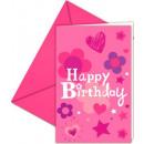 Großhandel Geschenkartikel & Papeterie: Happy Birthday Party Einladung 6 Stück