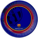 FCB, FC Barcelona Paper plate 6 pcs 20 cm