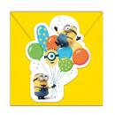 Minions , Minyonok Party Invitation 6pcs