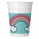 Unikornis Plastic cup 8 pieces 200 ml