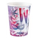 Happy New Year paper cup with 8 pcs 266 ml
