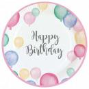 Happy Birthday Paper Piece 8 pcs 23 cm