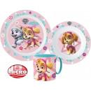 Tableware, micro plastic set Paw Patrol