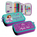 Disney Sofia pen case filled with 2 decks