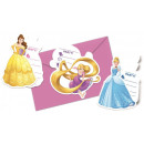 DisneyPrincess , Princesses Party Invitation 6pcs
