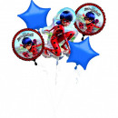 Miraculous Ladybug Foil Balloons Set 5 Pieces