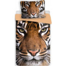 Großhandel Bettwäsche & Matratzen: Tiger 140 × 200cm Leinen, 70 x 90 cm