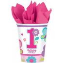 grossiste Articles de fête: gobelet en papier  premier  anniversaire 8 pcs ...