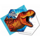 Jurassic World Party Invitation 6pcs