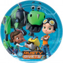 Rusty Rivets Paper Plate with 8 pcs 23 cm