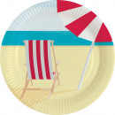 Sommer, Sommer Pappteller mit 8 Stück 23 cm