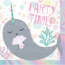 wholesale Gifts & Stationery: Narwhal napkin 16 pieces 33 * 33 cm