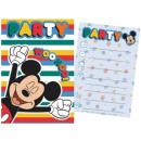 DisneyMickey Party Invitation Card