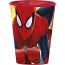 Spiderman, Spider glass, plastic 260 ml