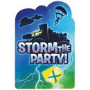 Battle Royal Party Invitation Card 8 pcs
