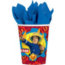 Fireman Sam , Sam in fire extinguishing paper cup