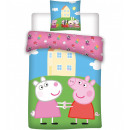 wholesale Bed sheets and blankets: Peppa pig Kids bed linen cover 100 × 135cm, 40 × 6