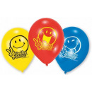 Emoji ballonnen, ballonnen 6 stuks