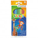 Safari Jumbo Color pencil 12 pcs