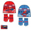 Spiderman Kids Cap + Gloves Set