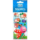 Ladybug sticker with silver decoration