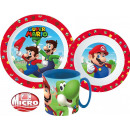 Super Mario tableware, micro plastic set