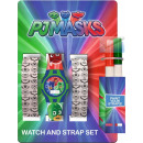 Digital Watch + Colorable Watch Strap Set PJ Mask