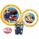 Tableware, micro plastic set Fireman Sam