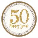 50th Anniversary, Wedding Anniversary Paper Plate