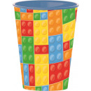 Bricks, LEGO patterned glass, plastic 260 ml