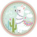 Llama, Lama Paper Plate with 8 pcs 23 cm