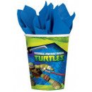 Ninja Turtles Paper Cup 8 pieces 266 ml