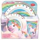 Unicorn tableware, micro plastic set Gift box