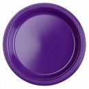 wholesale Gifts & Stationery: Plastic plate 10 pcs Purple