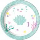 Océano, océano papel Placa de 8 piezas de 23 cm