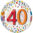 Happy Birthday 40 Sphere Foil Balloons 40 cm