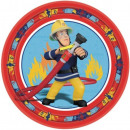 Fireman Sam , Sam The Firefighter Paper Plate 8 Pi