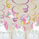 Unicorn Ribbon Decoration Set of 12