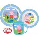 Peppa pig tableware, micro plastic set