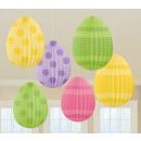 Ostern, Ostern Mini Lampion Satz von 6 Stück