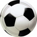 Voetbal papieren bord 8 stks 23 cm