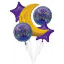 Eid Mubarak Folieballonnen Set 5 Stuks
