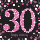 Happy Birthday 30 serwetek w 16 kawałkach 33*33 cm