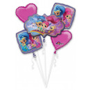 Shimmer and Shine Foil balloons set of 5 pieces