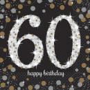 Happy Birthday 60 tovaglioli 16 pezzi 33 * 33 cm