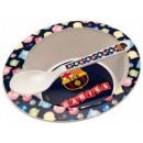 FCB, FC Barcelona baby micro diepe plaat + lepel