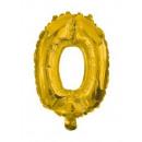 Óriás 0-ás Gold szám Fólia lufi 85 cm