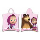 Masha and bear beach towel poncho 50 * 115 cm